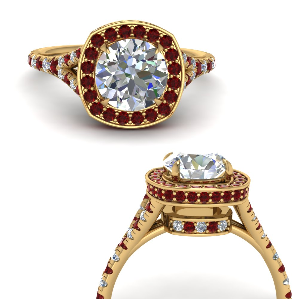 round-cut-diamond-halo-Split-engagement-ring-with-ruby-in-FDENR8753RORGRUDRANGLE3-NL-YG