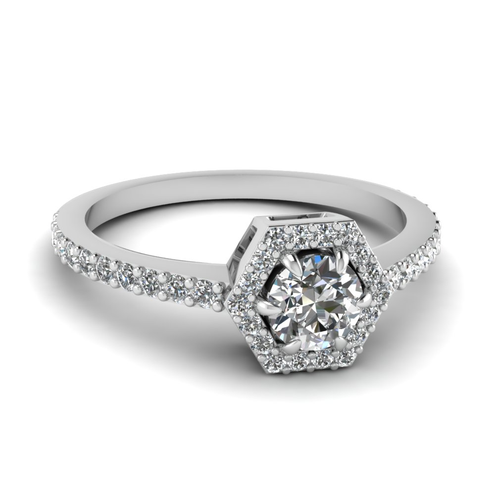 petite hexagon halo diamond engagement ring in FD1173ROR NL WG.jpg