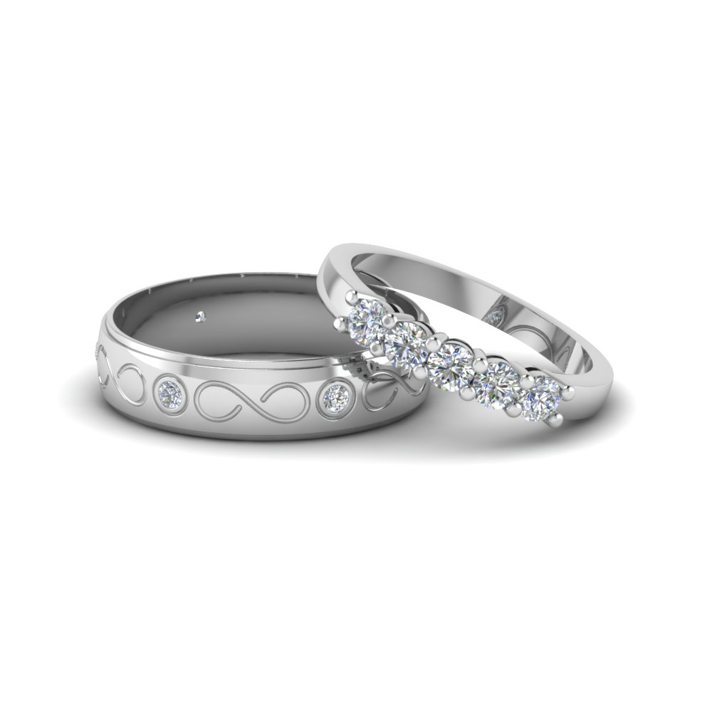 Infinity Style Ring For Couples