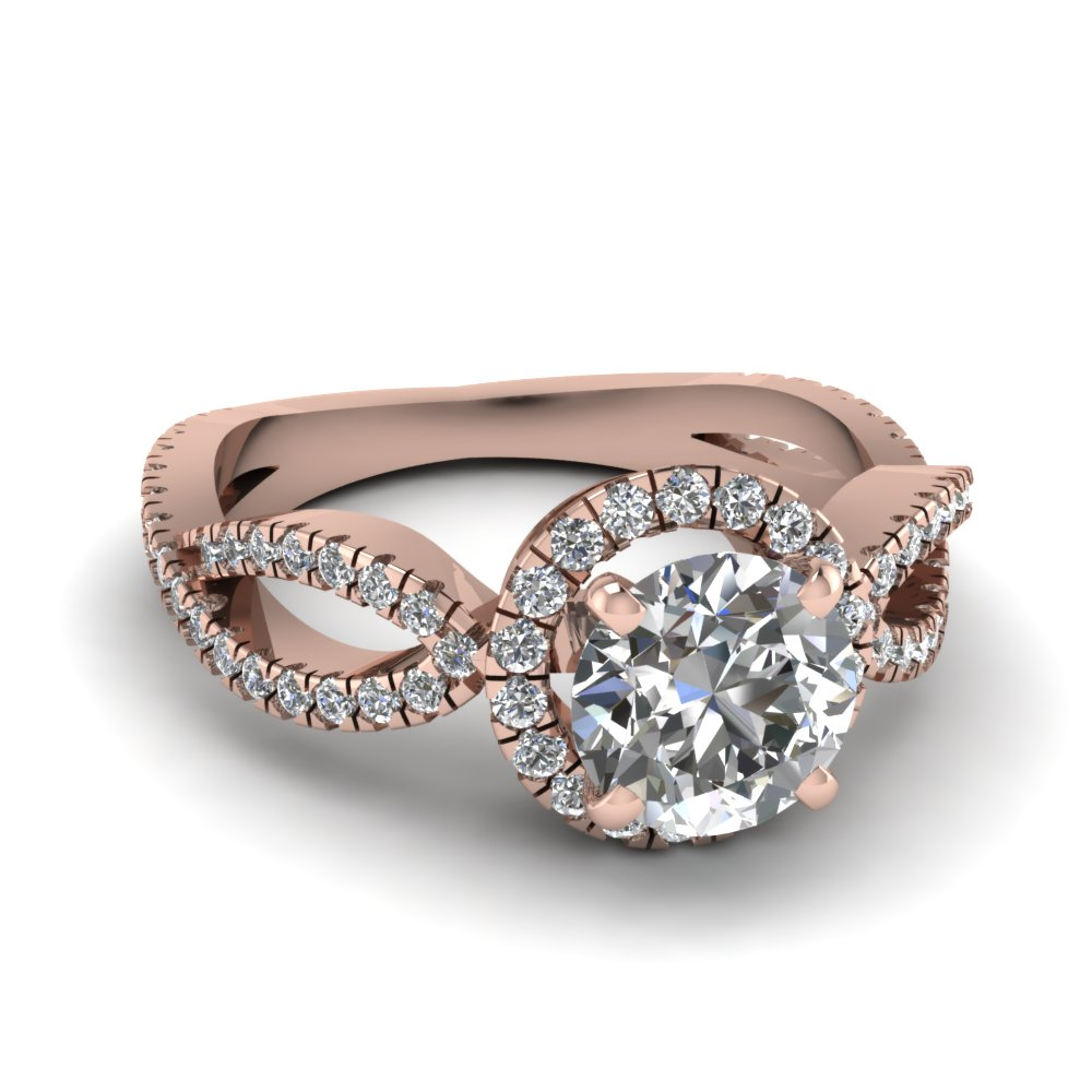 Infinity Halo Diamond Ring