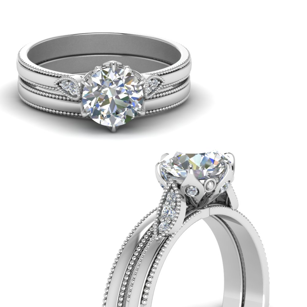 round cut diamond leaf accent nature wedding ring set in FD122990ROANGLE3 NL WG.jpg