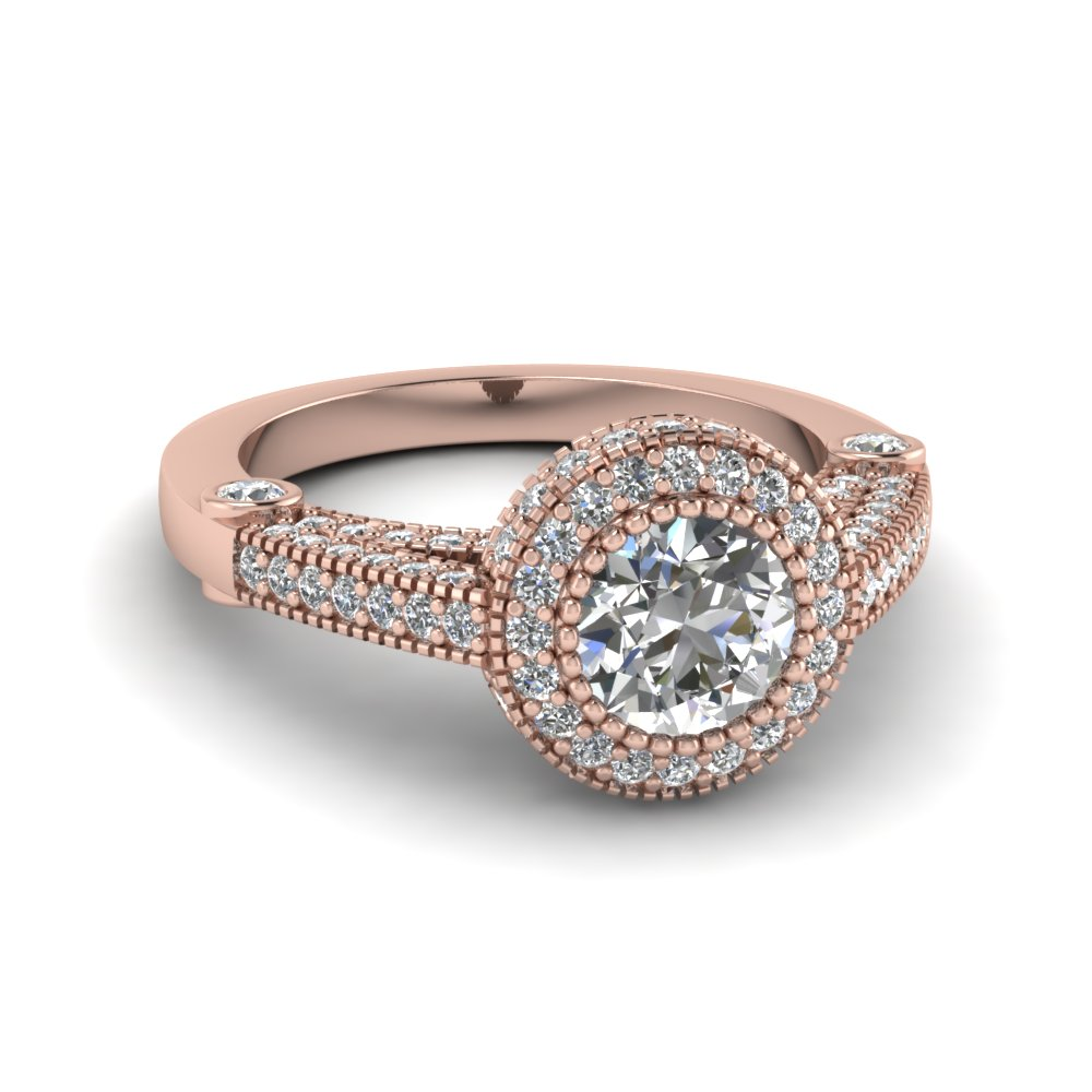 Diamond Milgrain Bezel Ring