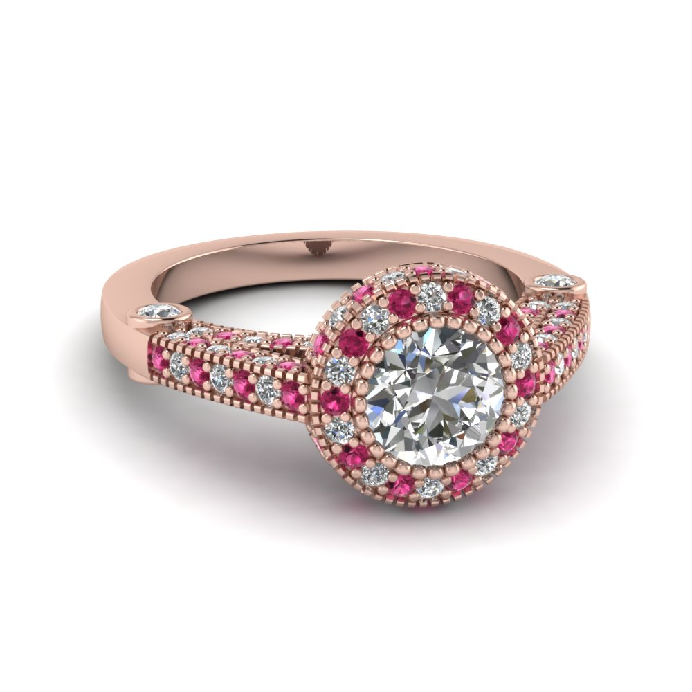 round-cut-diamond-milgrain-opulence-ring-with-dark-pink-sapphire-in-18K-rose-gold-FDENR6300RORGSADRPI-NL-RG