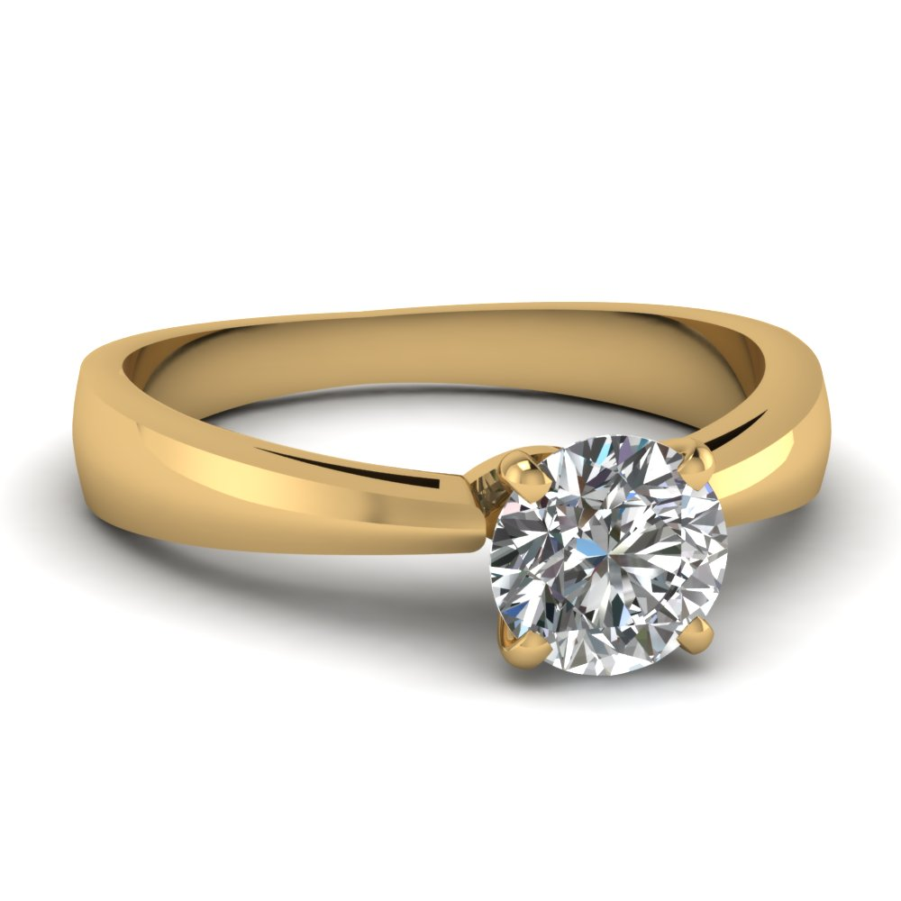 Simple Round Cut Diamond Ring
