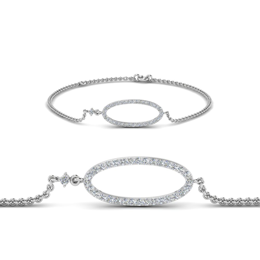 Open Oval Diamond Bracelet