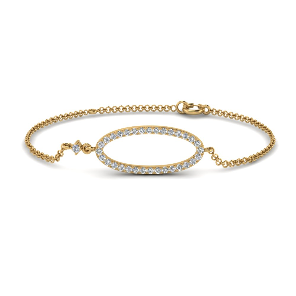 Affordable Yellow Gold Diamond Bracelet