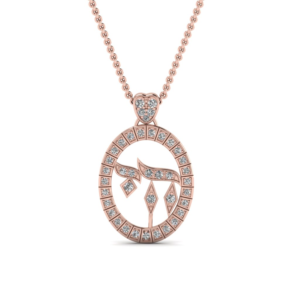 round-cut-diamond-religious-pendant-in-14K-rose-gold-FDRPD166-NL-RG