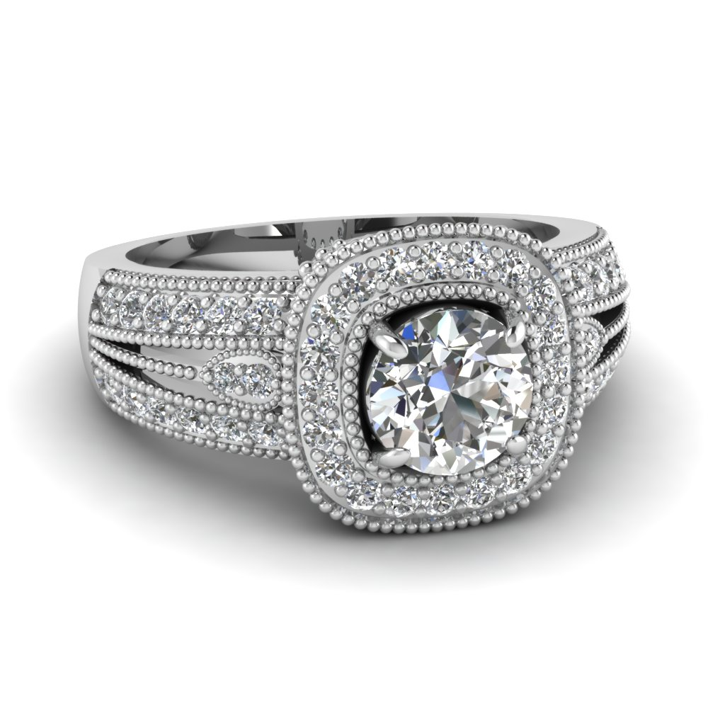 engagement pave vintage rings edwardian style diamond ring