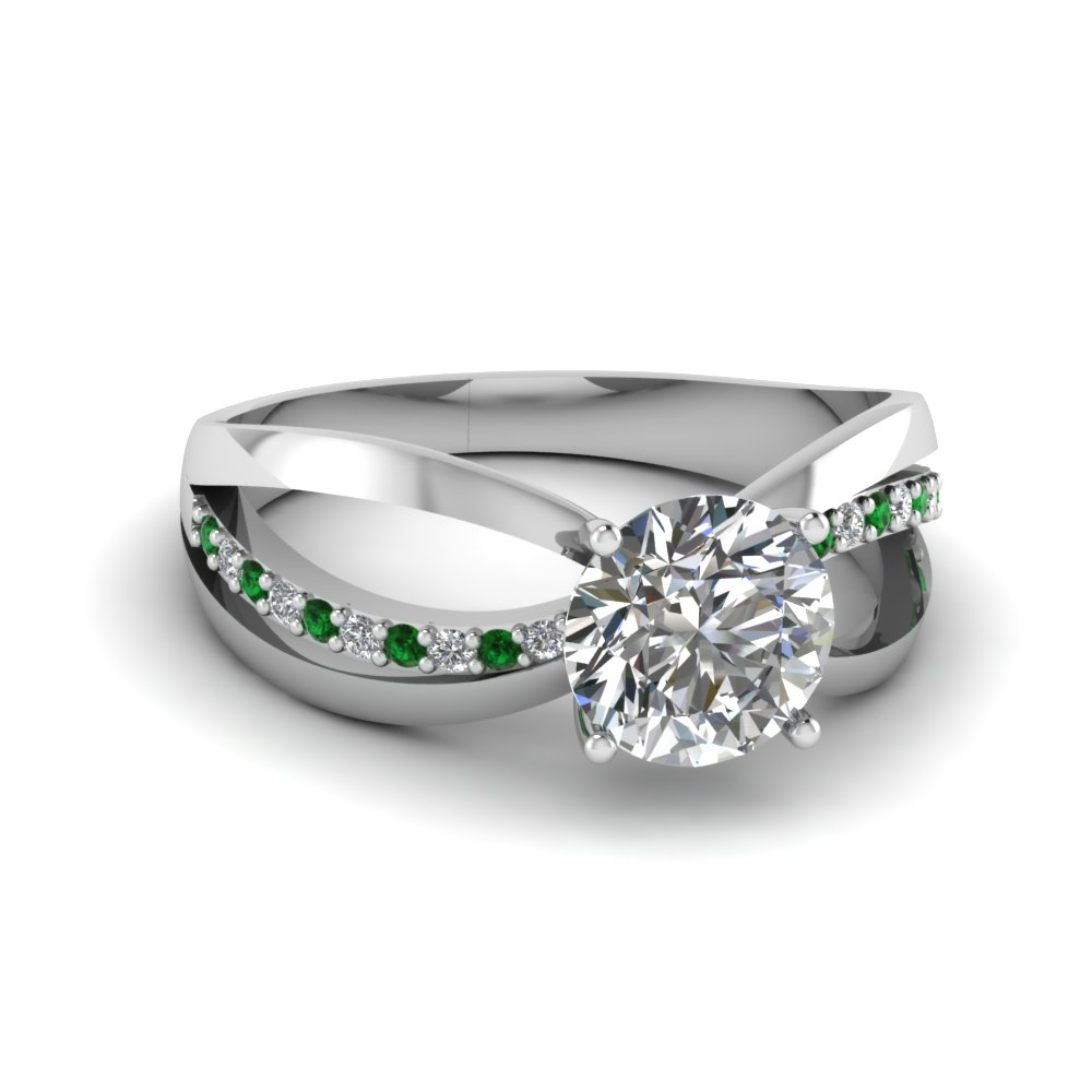 side ring rings emerald engagement diamond watch carat stone youtube cut