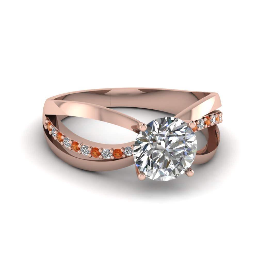 Round Cut  Semi Split Ring