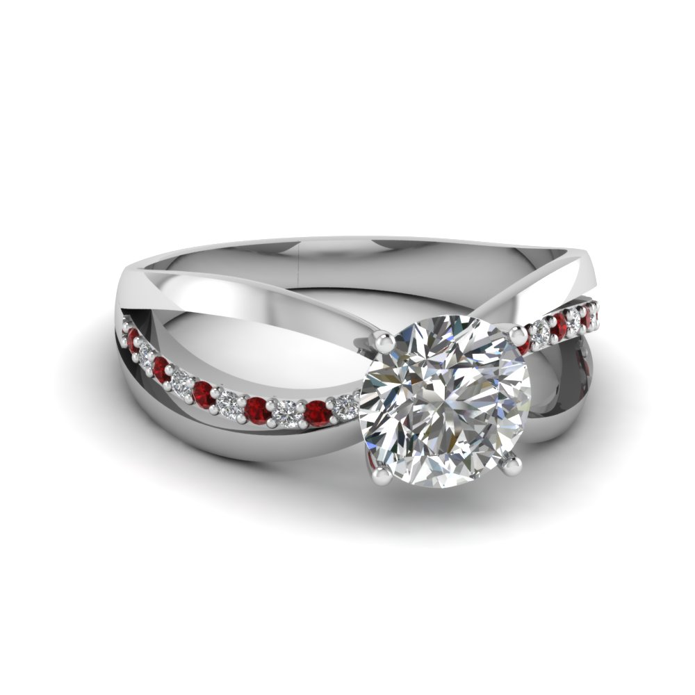 inverse split diamond engagement ring with ruby in FDENR9170RORGRUDR NL WG