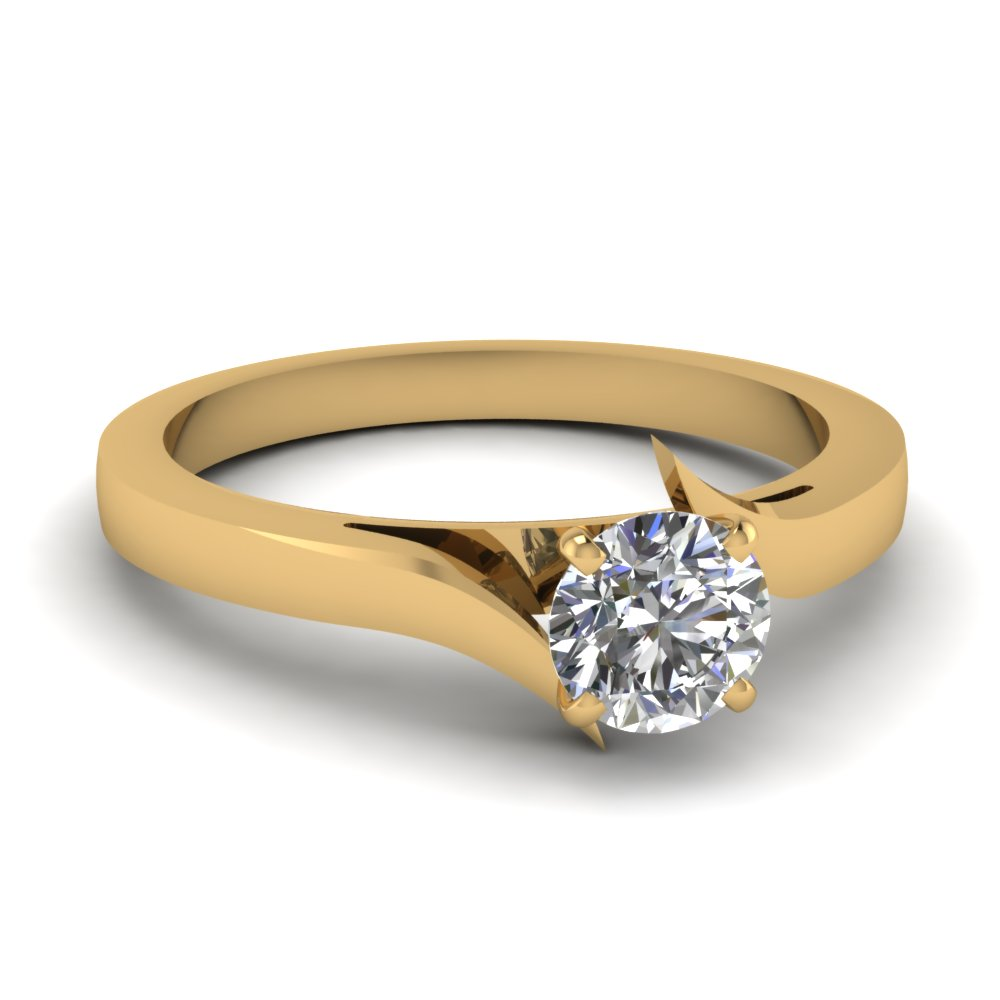 Latest Designs Of Round Cut Solitaire Engagement Rings Fascinating