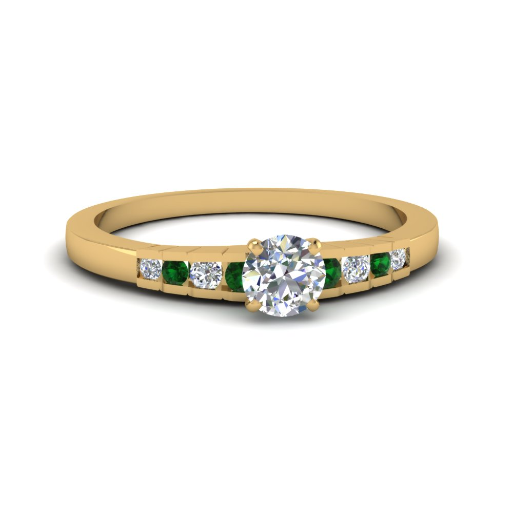 Cheap Emerald Wedding Ring Yellow Gold