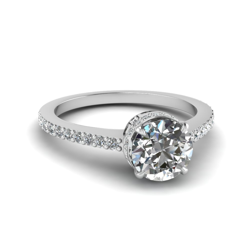 Delicate Shank Diamond Ring