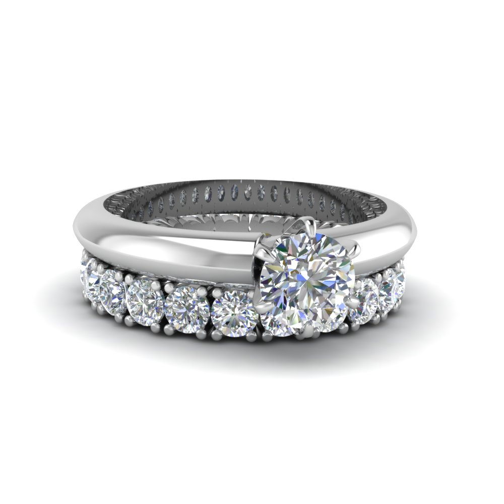 Solitaire Engagement Ring With Eternity Band
