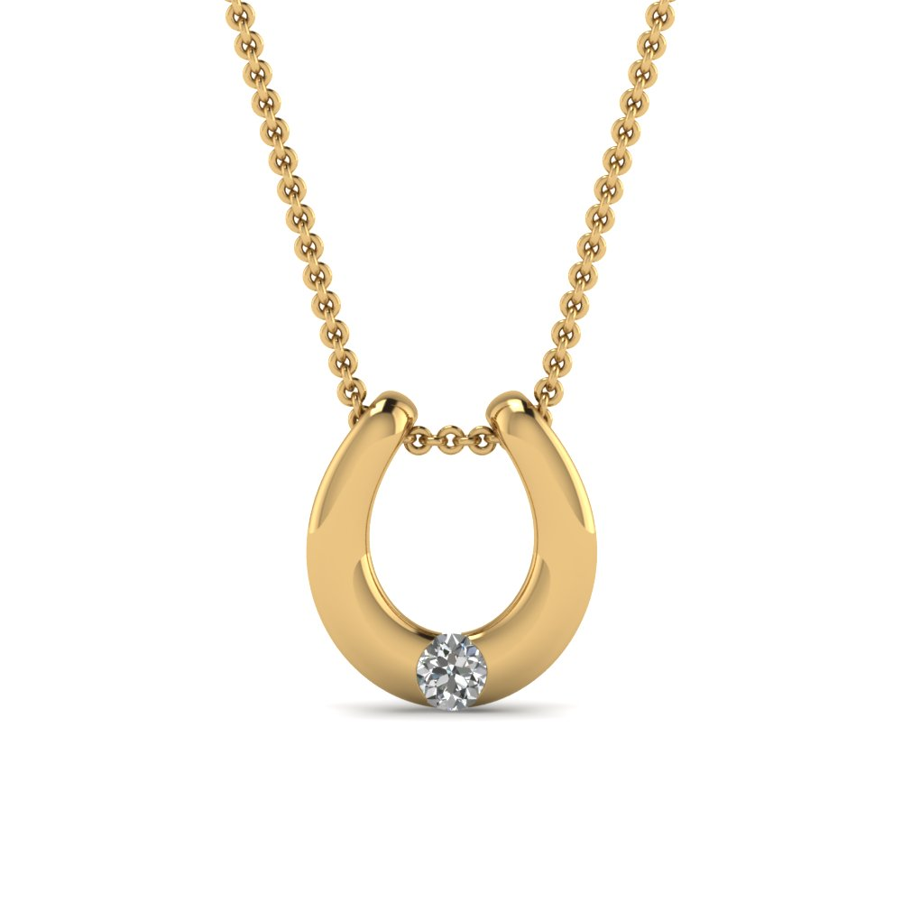 Round cut diamond solitaire pendant in 18k yellow gold fascinating round cut diamond solitaire pendant in 18k yellow aloadofball Images