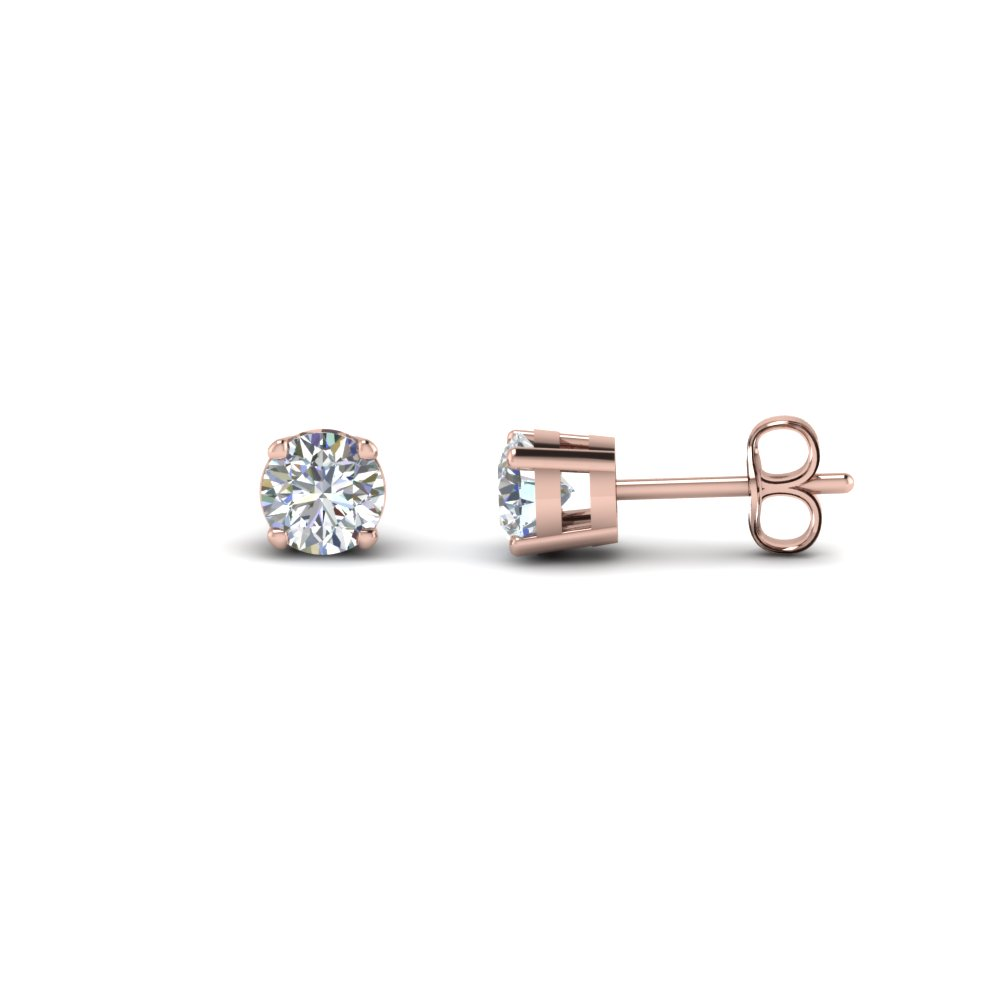 Round Cut Diamond Stud Earring 2 Carat