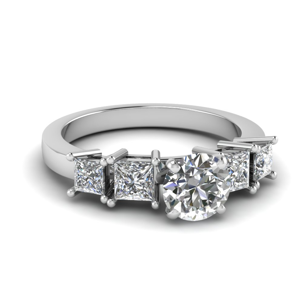 Basket Prong Round Diamond Ring