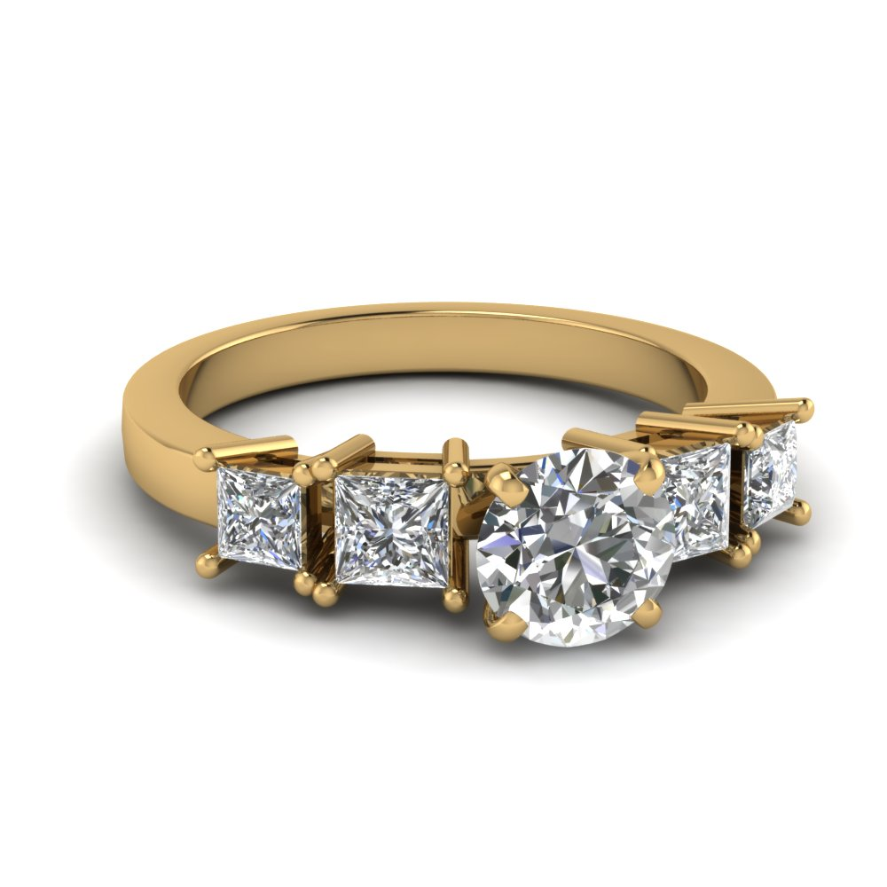 Yellow Gold 5 Stone Ring