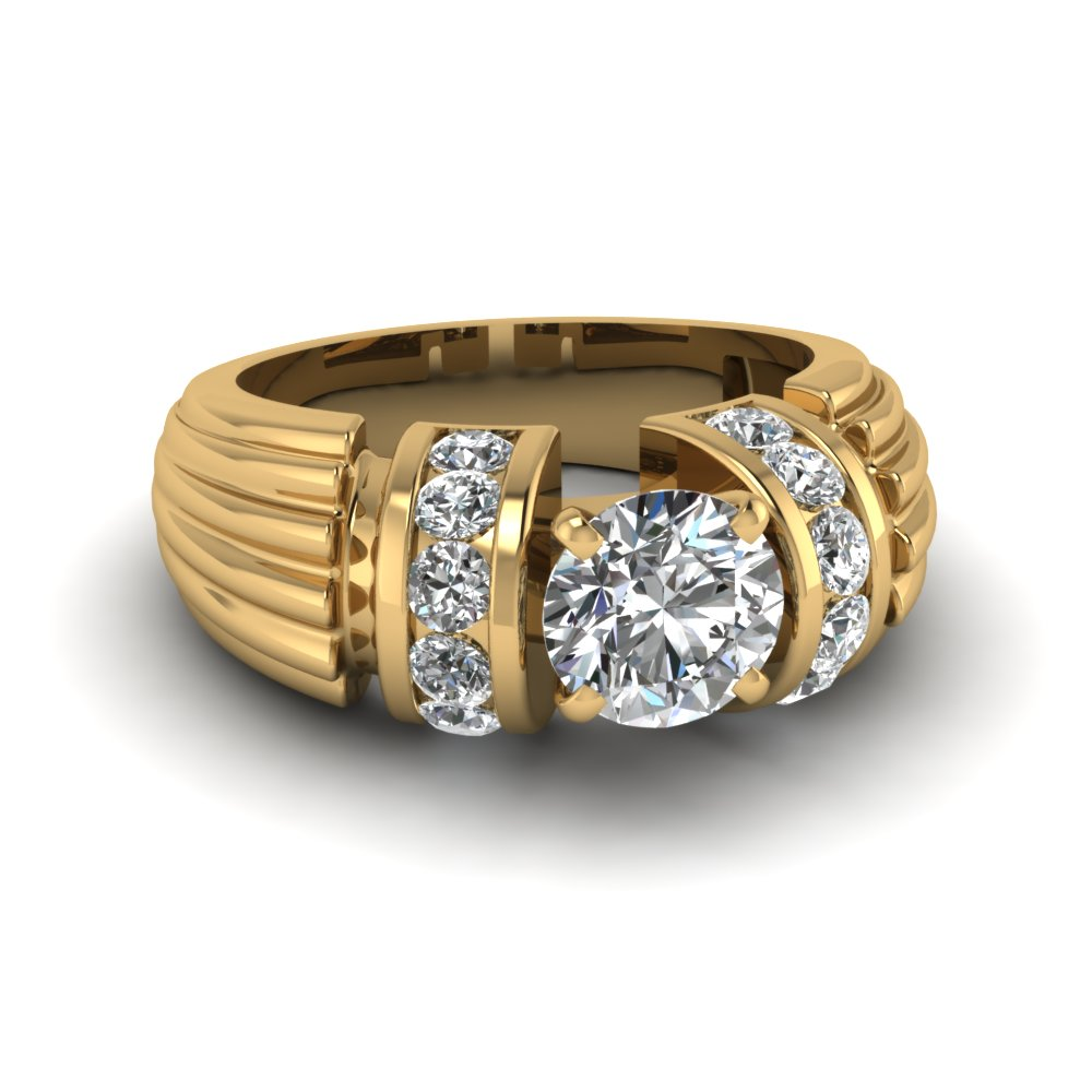 Wide Engagement Ring