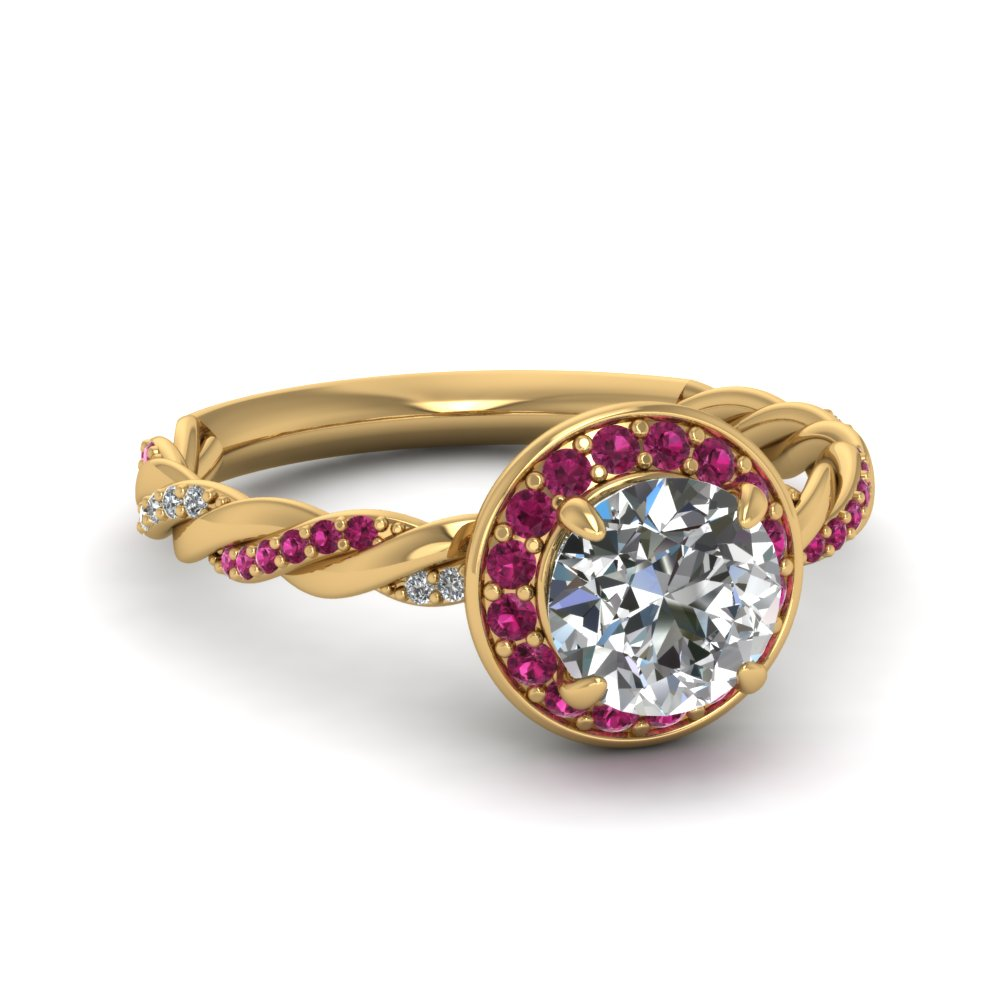 Vine Halo Diamond Ring