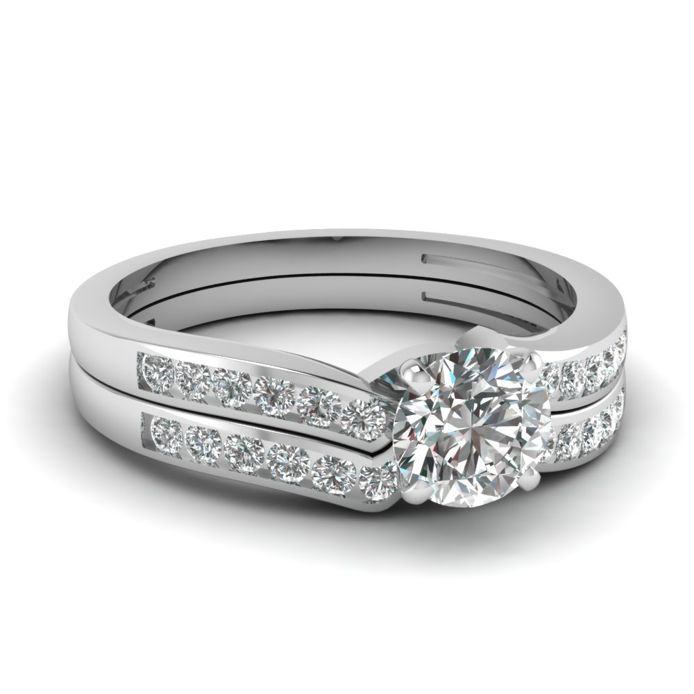 Diamond Channel Bridal Set