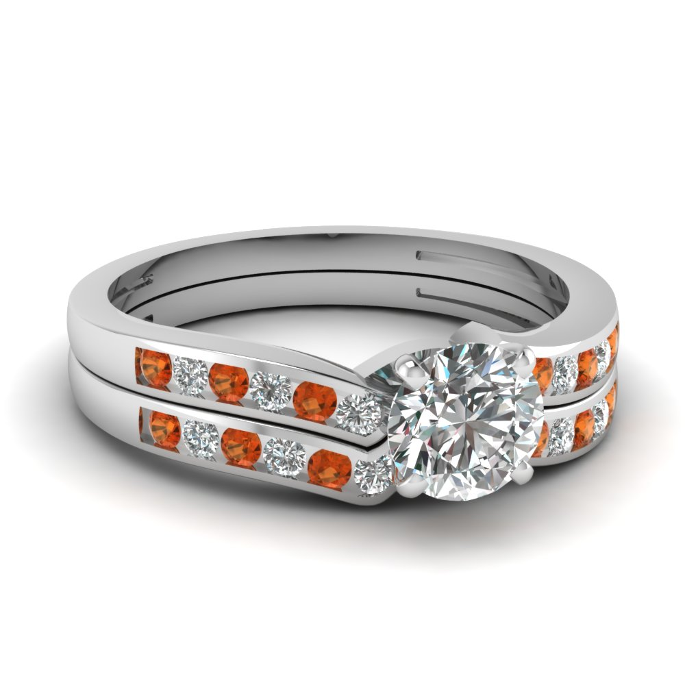 round cut diamond channel bridal set with orange sapphire in FDENS3092ROGSAOR NL WG.jpg