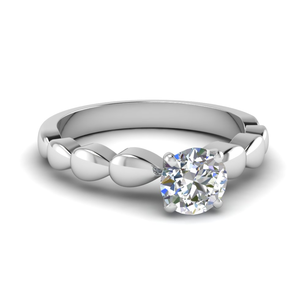 Drops Round Cut Solitaire Ring