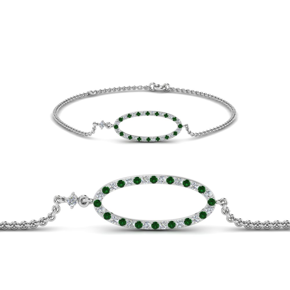 Tennis Diamond Bracelets With Emerald