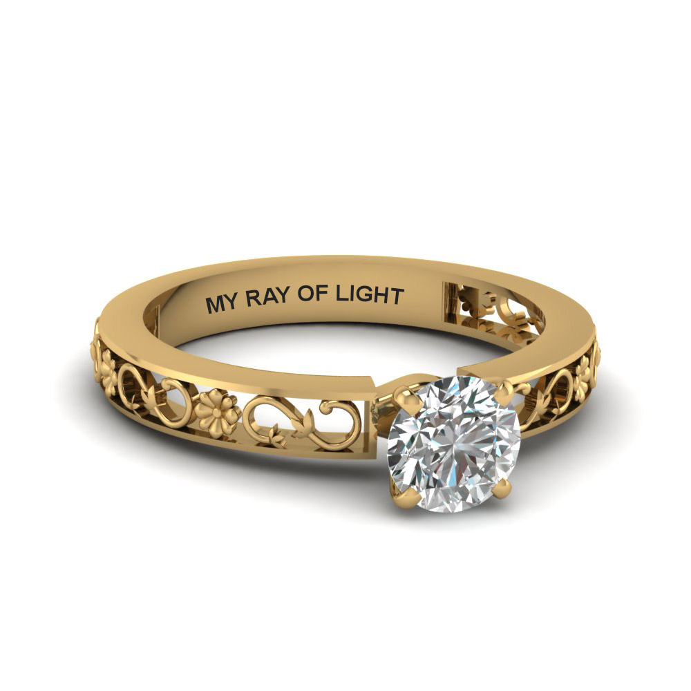 Round Cut Solitaire Diamond Ring