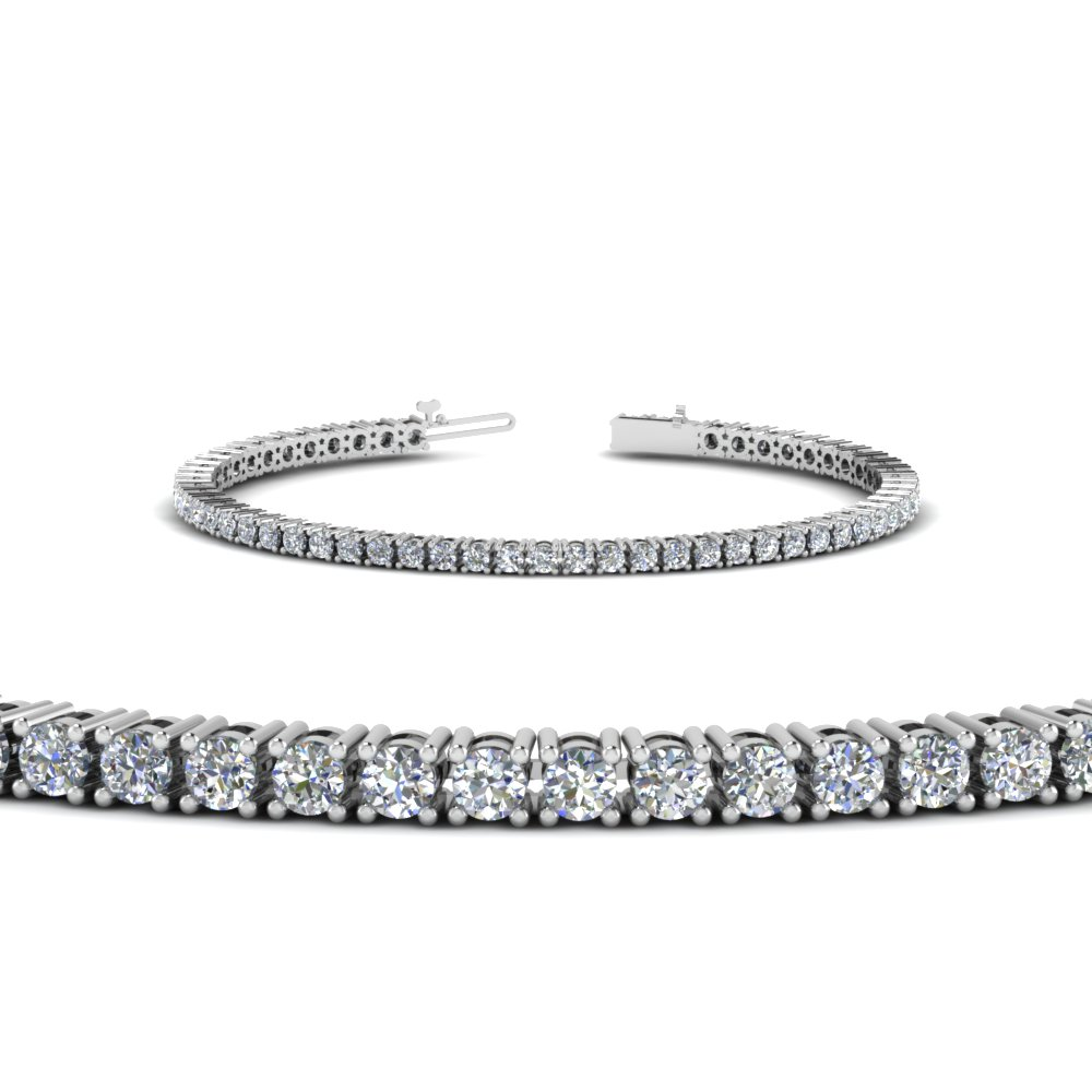 white carat ladies ctw sterling amazon silver ct eternity tennis diamond bracelet jewelry link com dp round