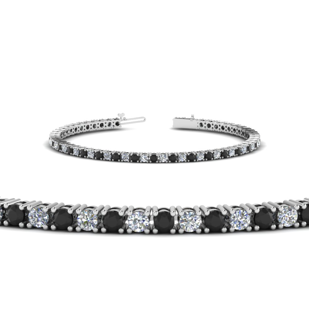 3 Ct Round Eternity Tennis Bracelet With Black Diamond In Fdbr00004rogblack Nl Wg Jpg