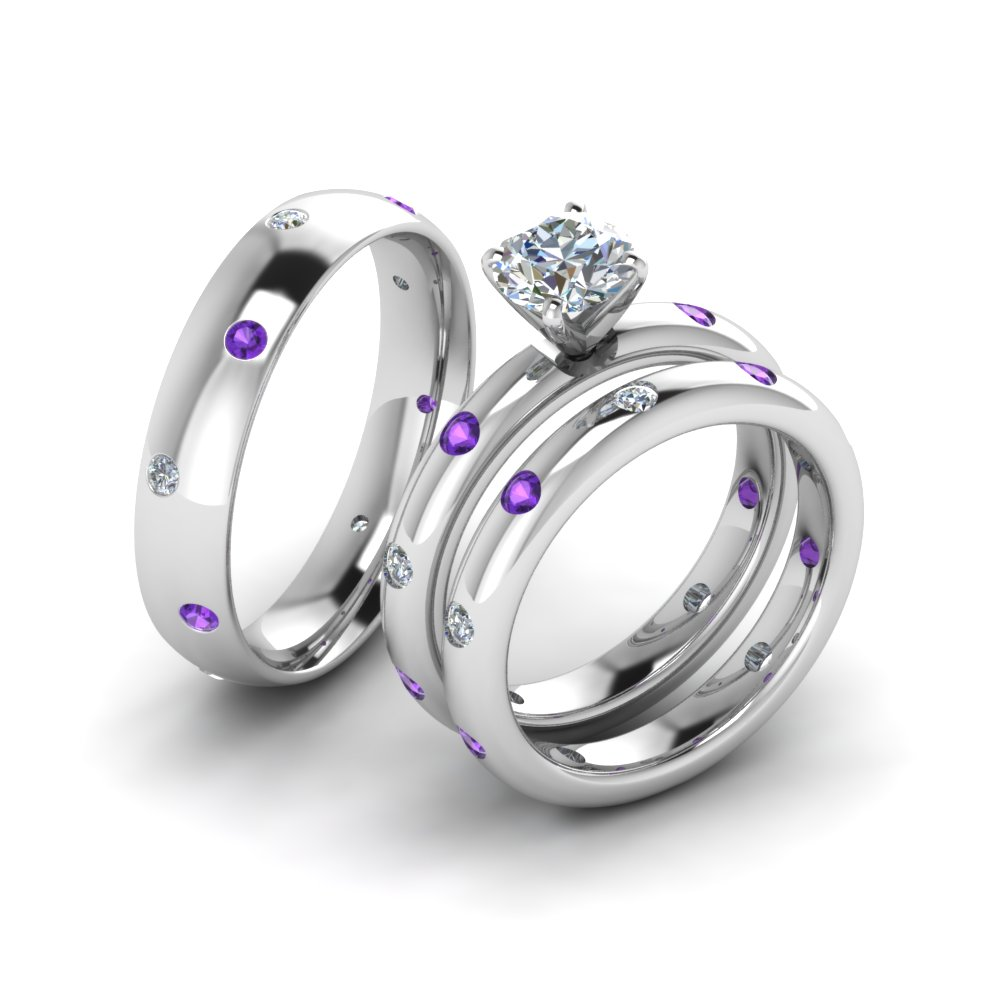 rings bridal engagement of third slim box matching ring set pear eye luxury