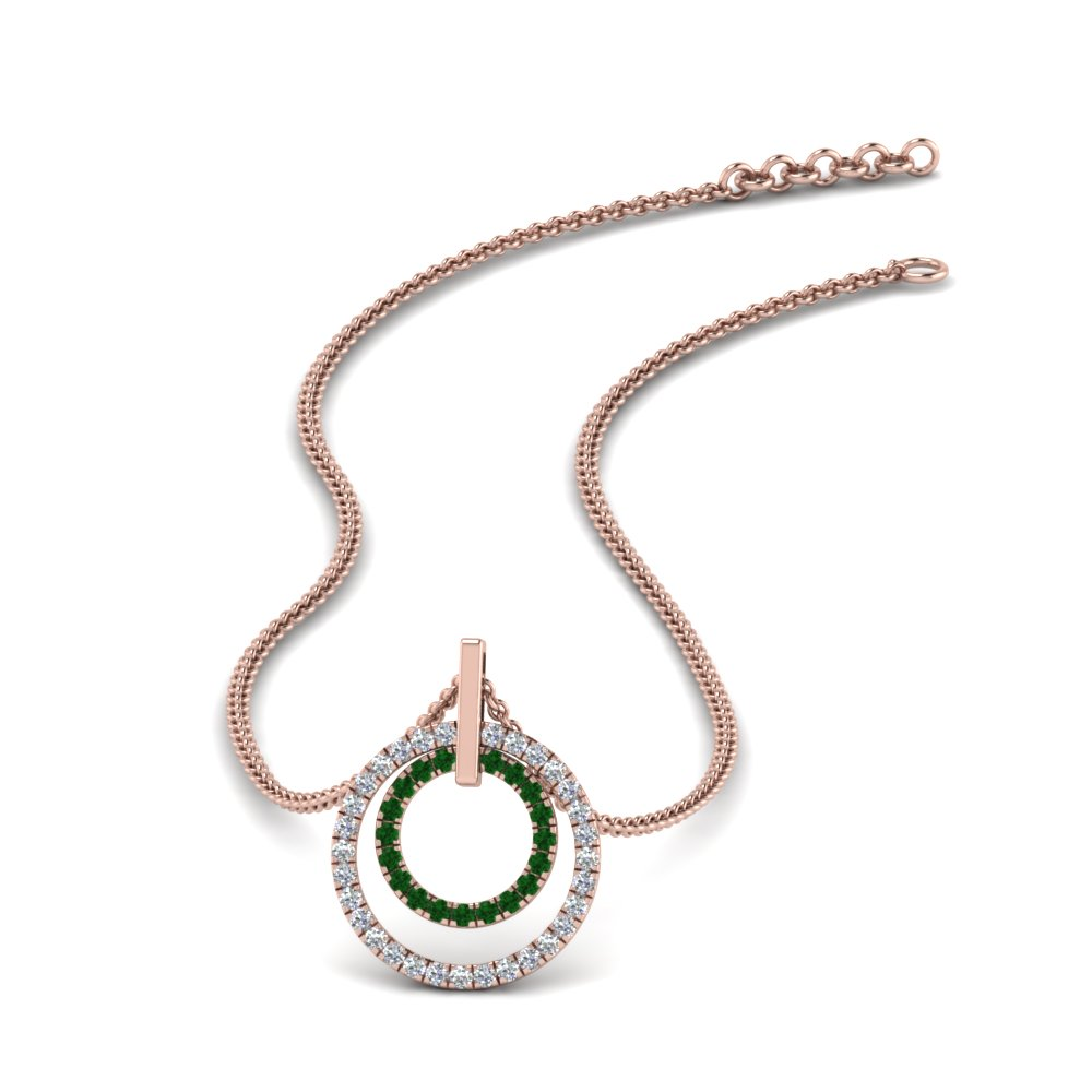 double-circle-diamond-pendant-with-emerald-in-FDPD1189GEMGR-NL-RG