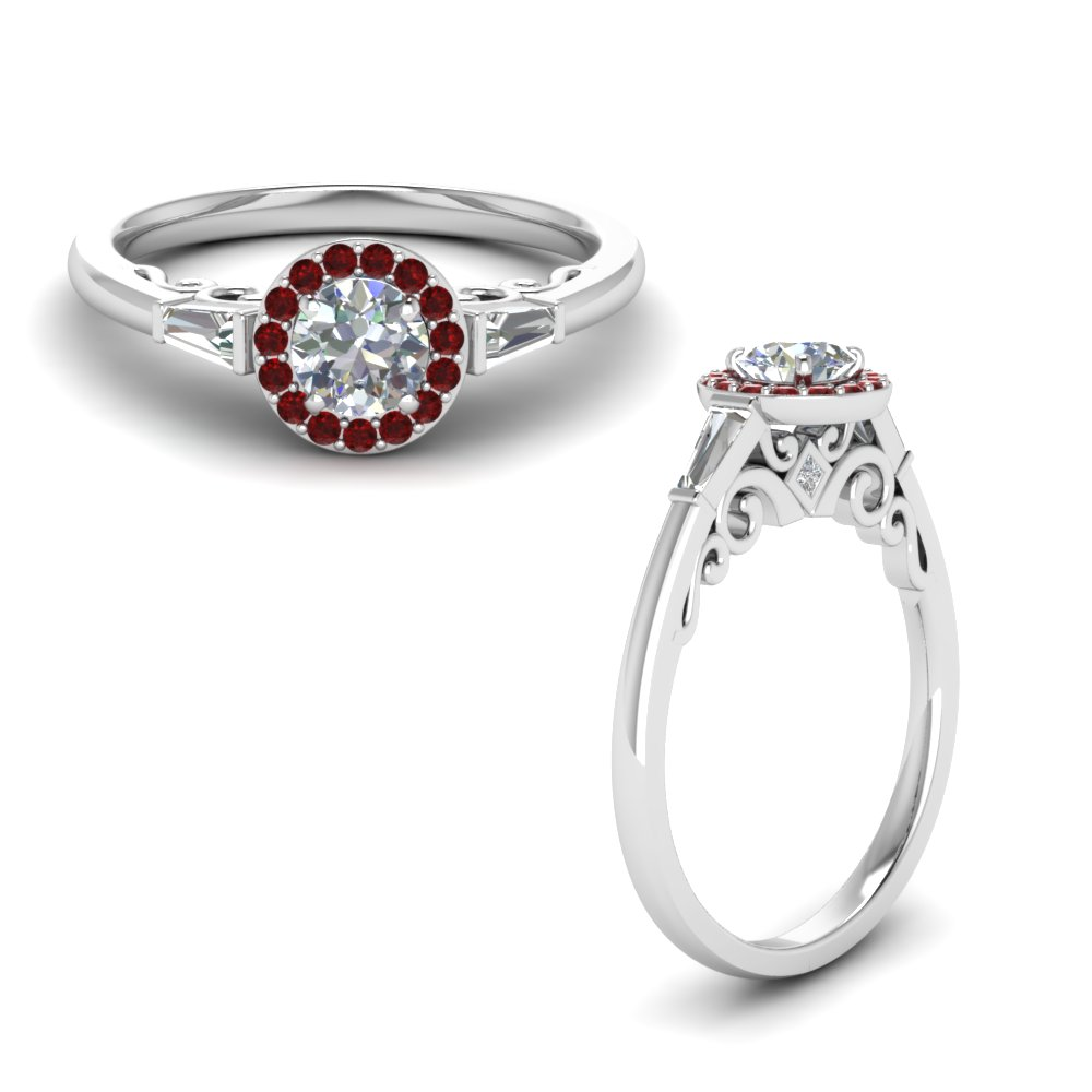 Accent Ruby Baguette Ring