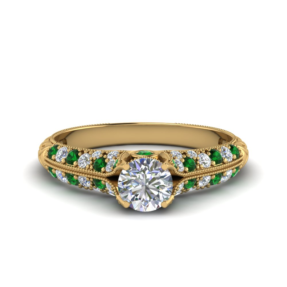 High Setting Vintage Diamond Ring