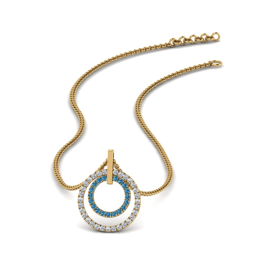 double-circle-diamond-pendant-with-blue-topaz-in-FDPD1189GICBLTO-NL-YG