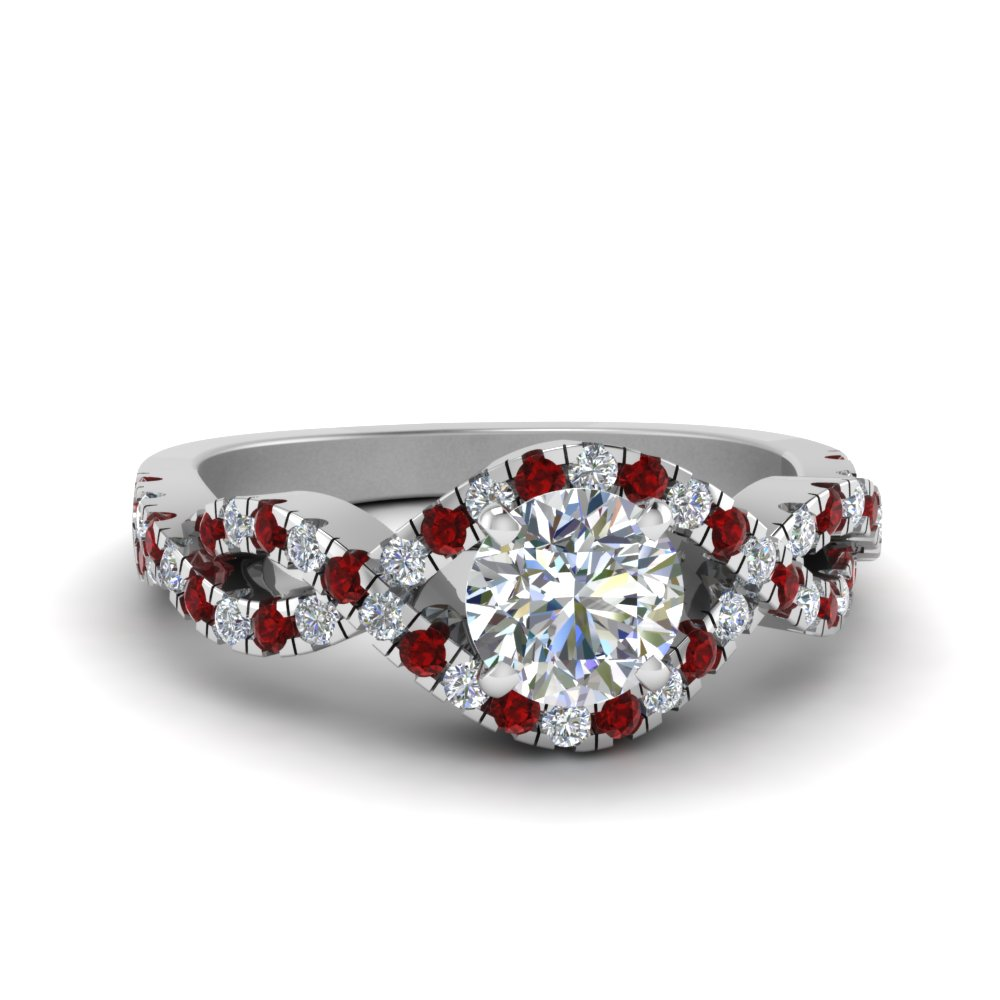 Ruby Round Halo Ring