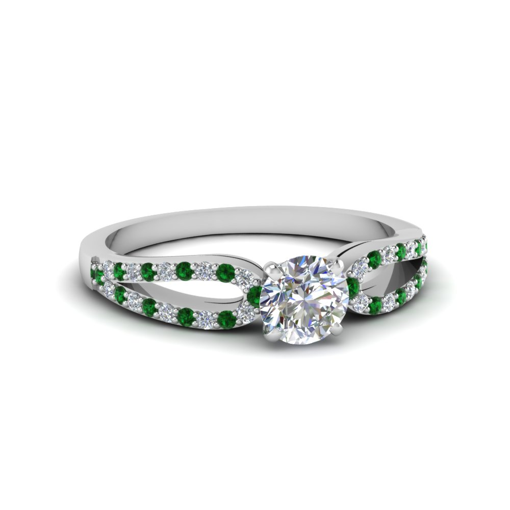 Loop Emerald Promise Ring