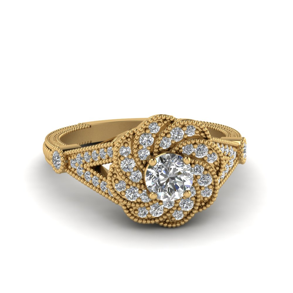 Micropave Halo Diamond Ring