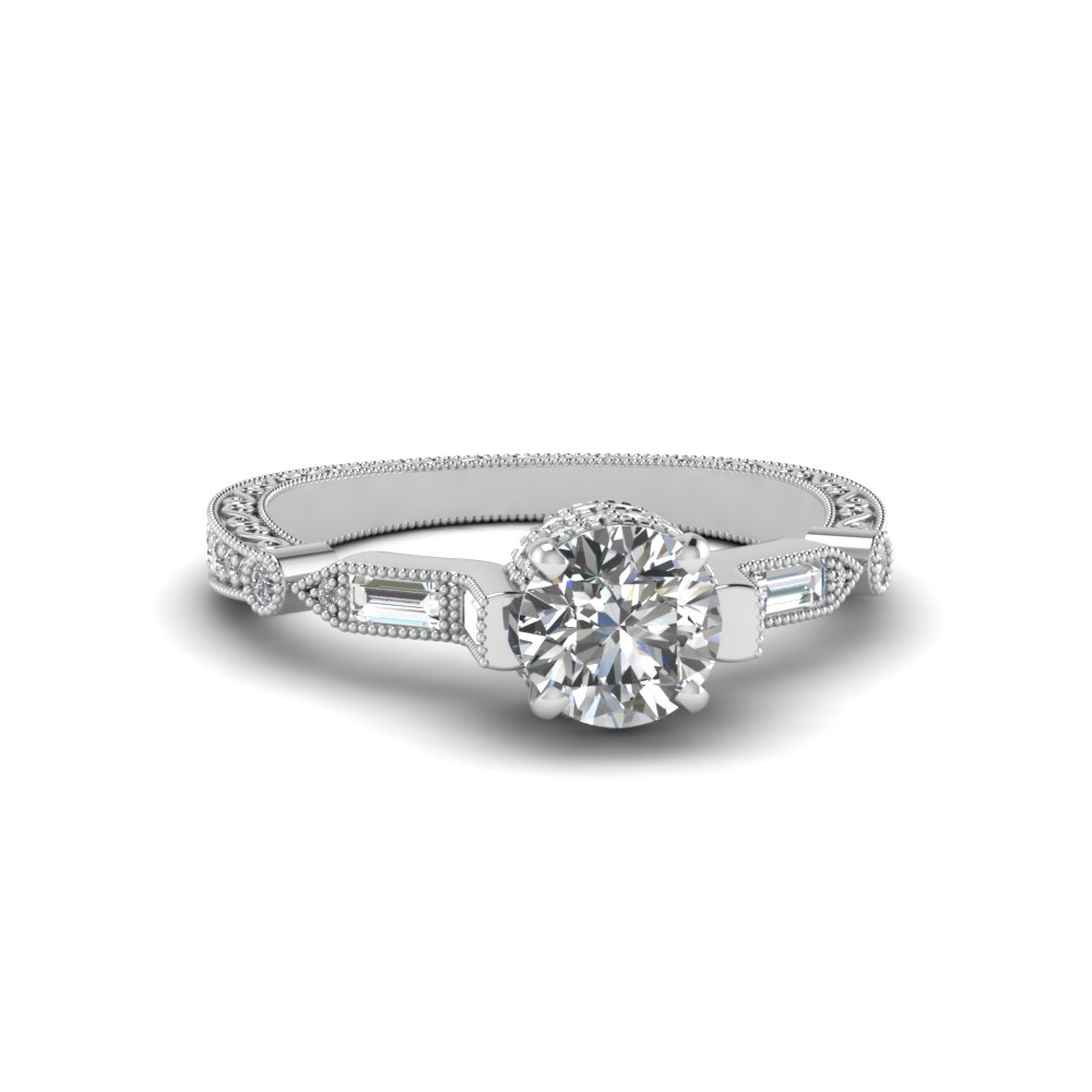 ritani rings stone baguette engagement round three ring tapered diamond pave