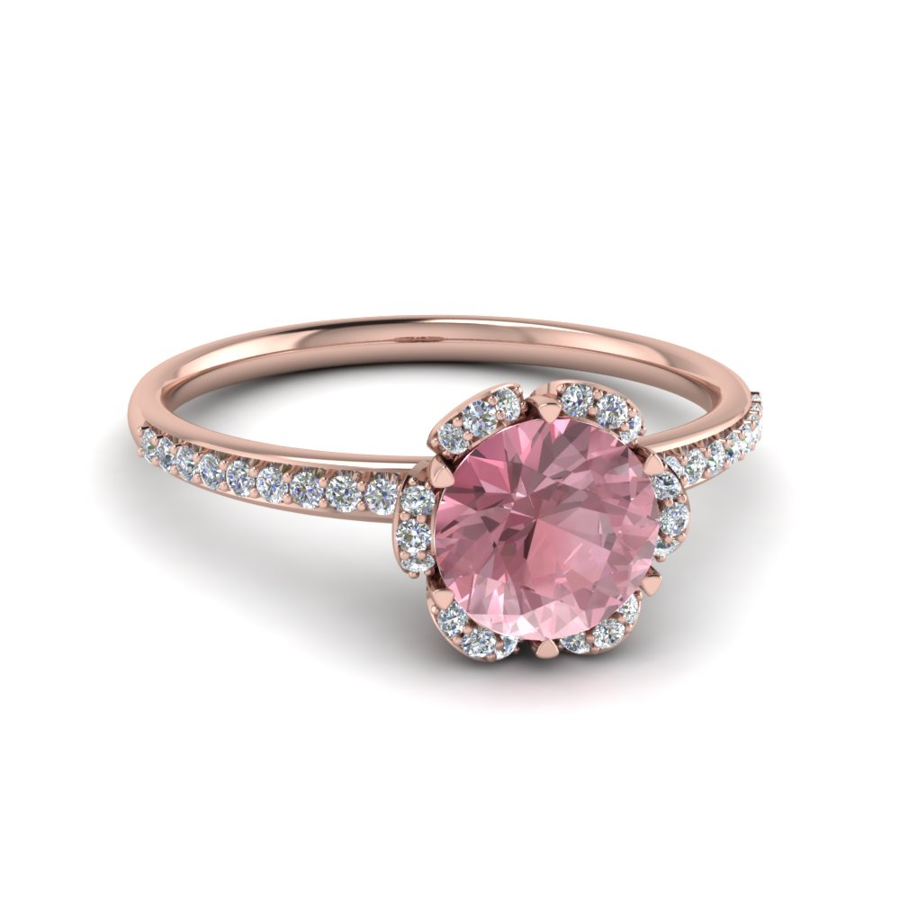 Flower Design Morganite Ring