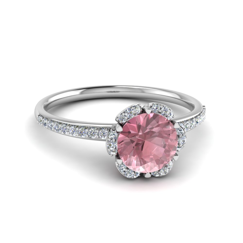 Floral Morganite Engagement Ring