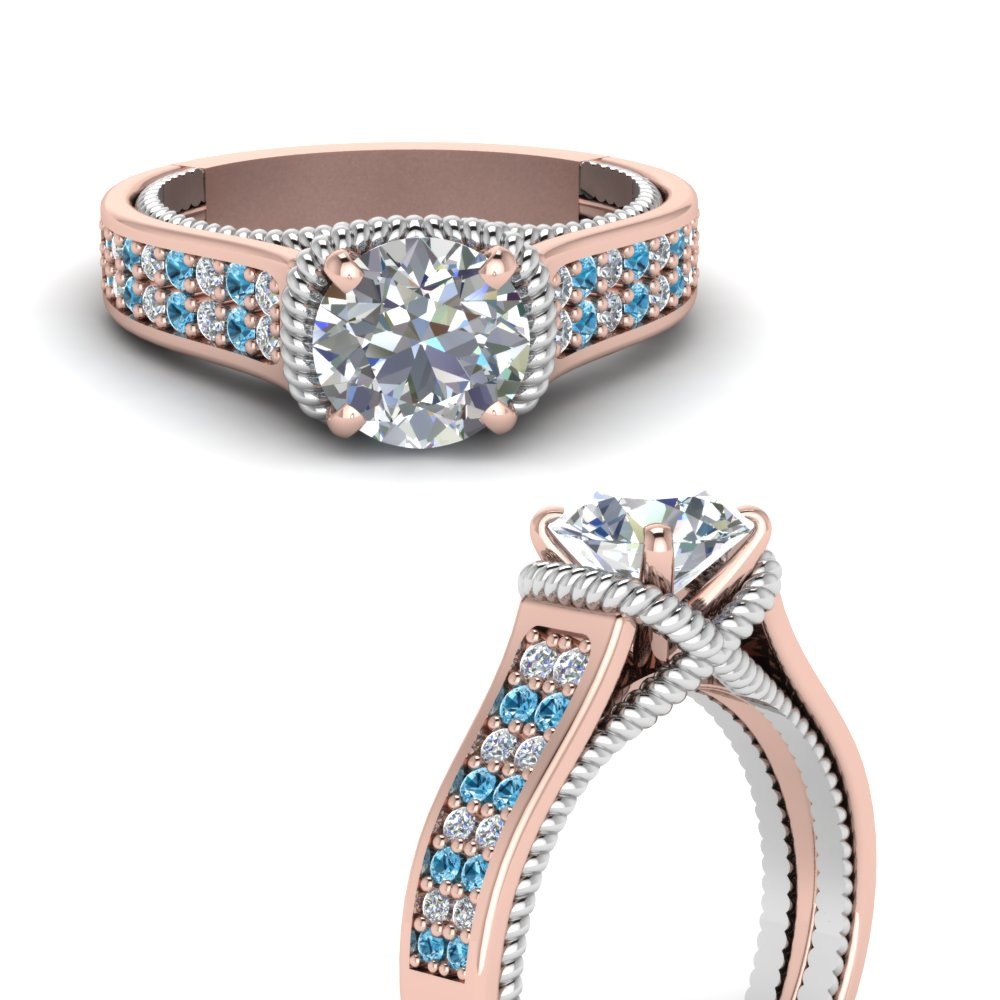 multi-row-2-tone-diamond-engagement-ring-with-blue-topaz-in-FDENR9508RORGICBLTOANGLE3-NL-RG