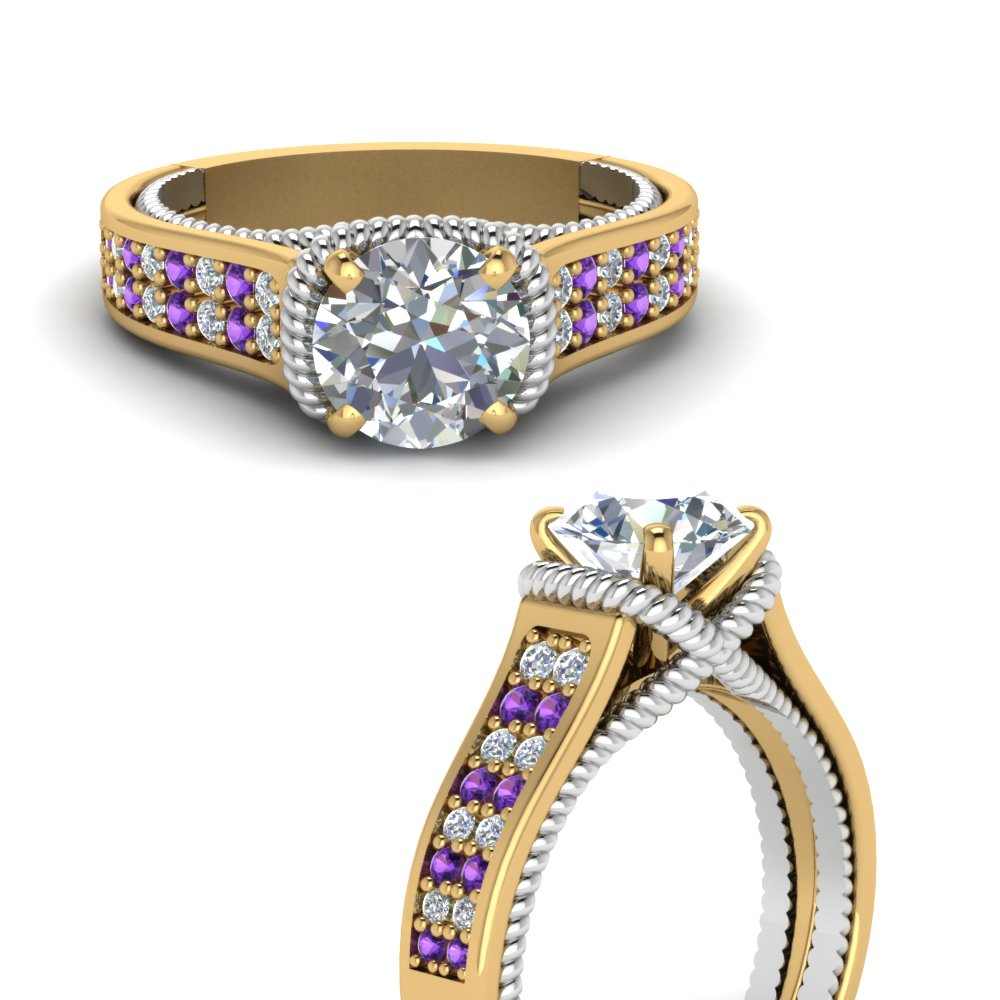 multi-row-2-tone-diamond-engagement-ring-with-purple-topaz-in-FDENR9508RORGVITOANGLE3-NL-YG