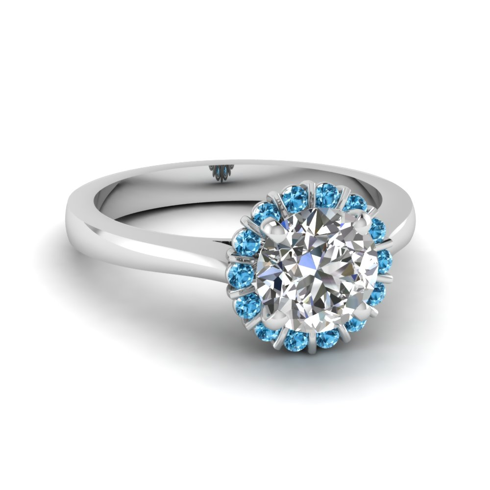 diamond gold topaz cushion white cut ring and blue