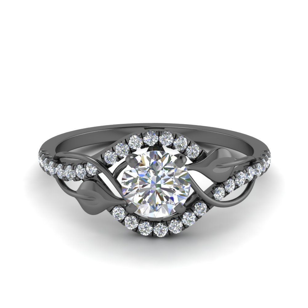 Black Gold Diamond Engagement Rings