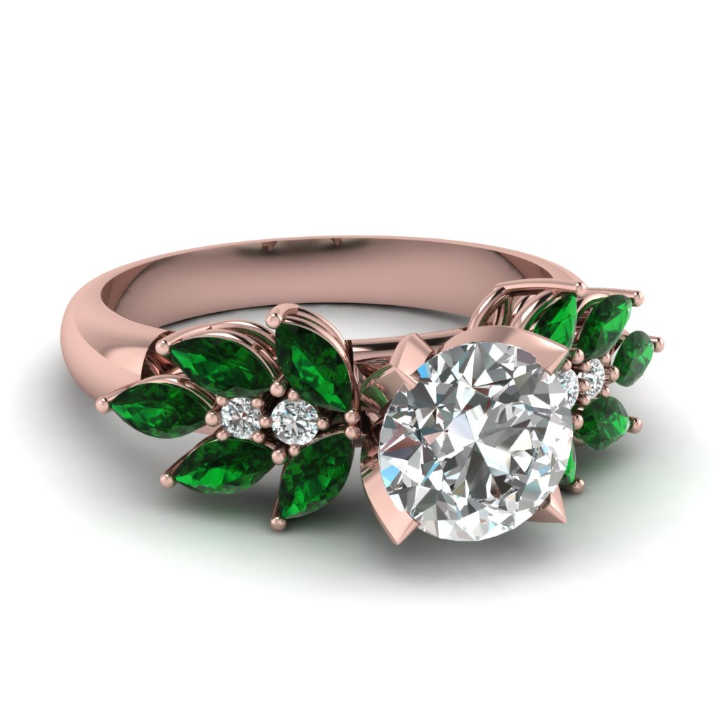 Nature Inspired Emerald Ring