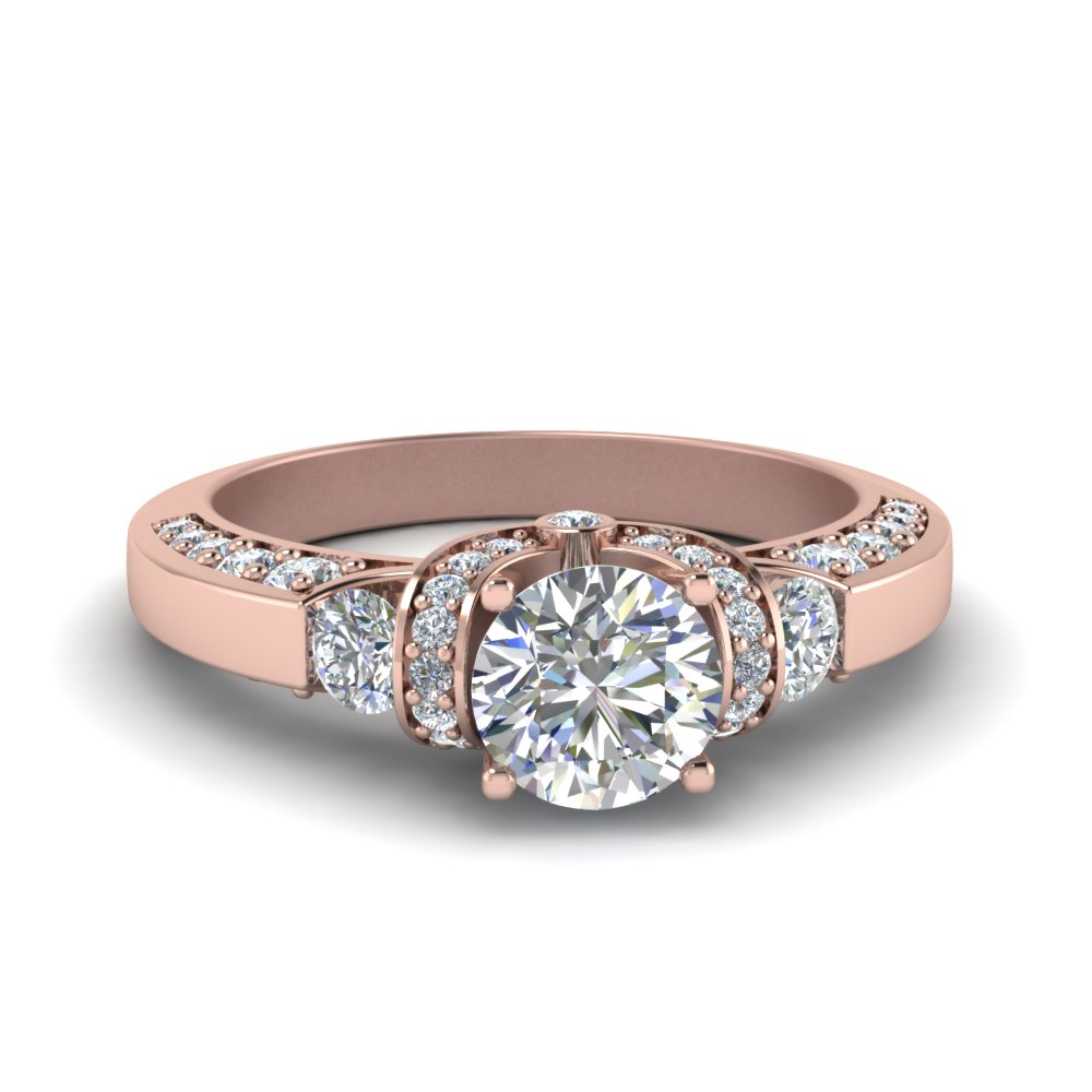 1 Ct. Round Cut Diamond Ring For Her