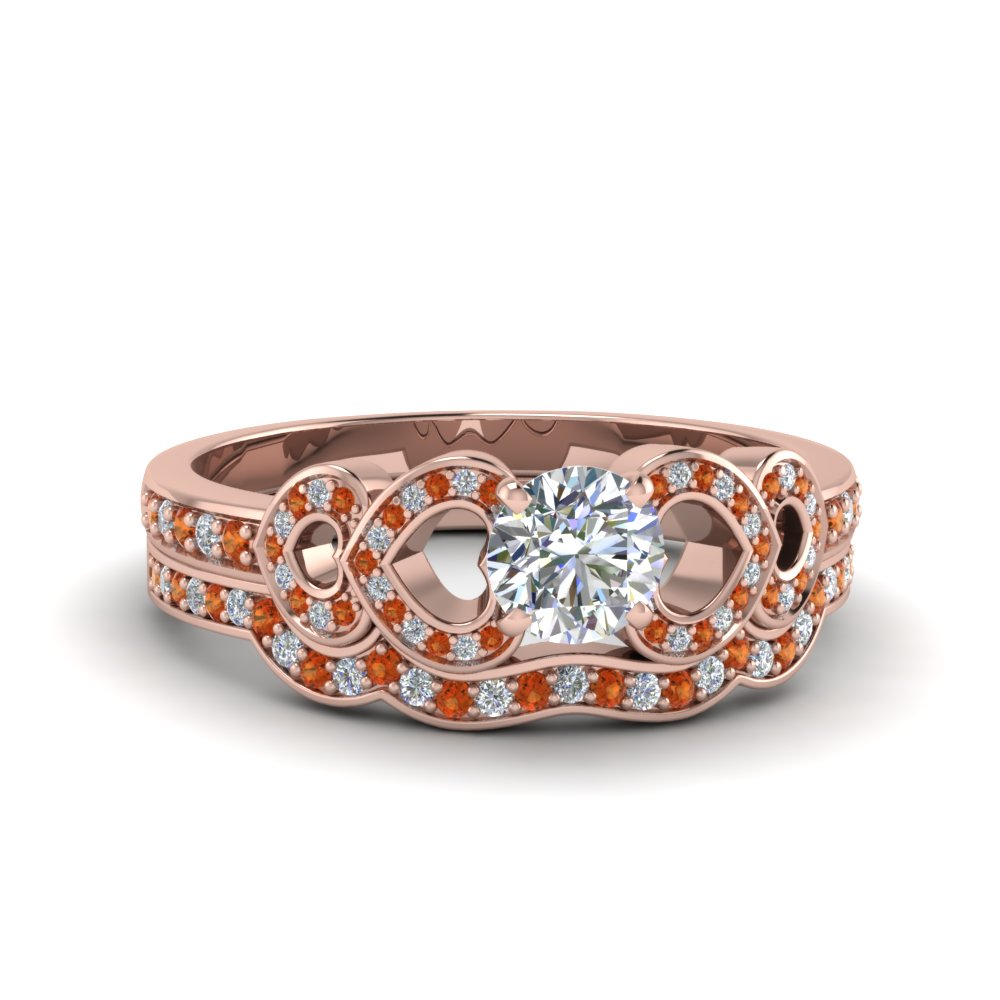 Orange Sapphire Weddings Sets For Her